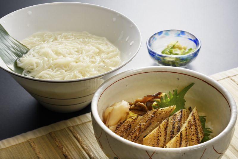 素麺と穴子のミニちらし寿司
