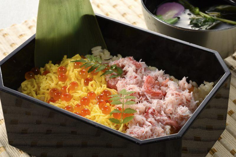 紅ずわい蟹のちらし寿司